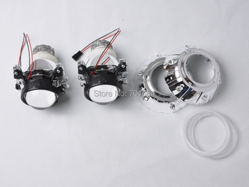 "2.5"" HID Bi-Xenon Headlight Projector Lens Kit For D2S Bulb LHD NO Angel Eye [QP380]"
