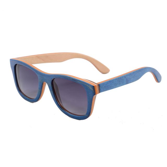 Mulheres quentes Do Skate De Madeira Óculos De Sol De Madeira Feitos À Mão Real Quadro Google óculos de sol Luneta De Soleil Polarizada Óculos De Sol Dos Homens Verão 68004