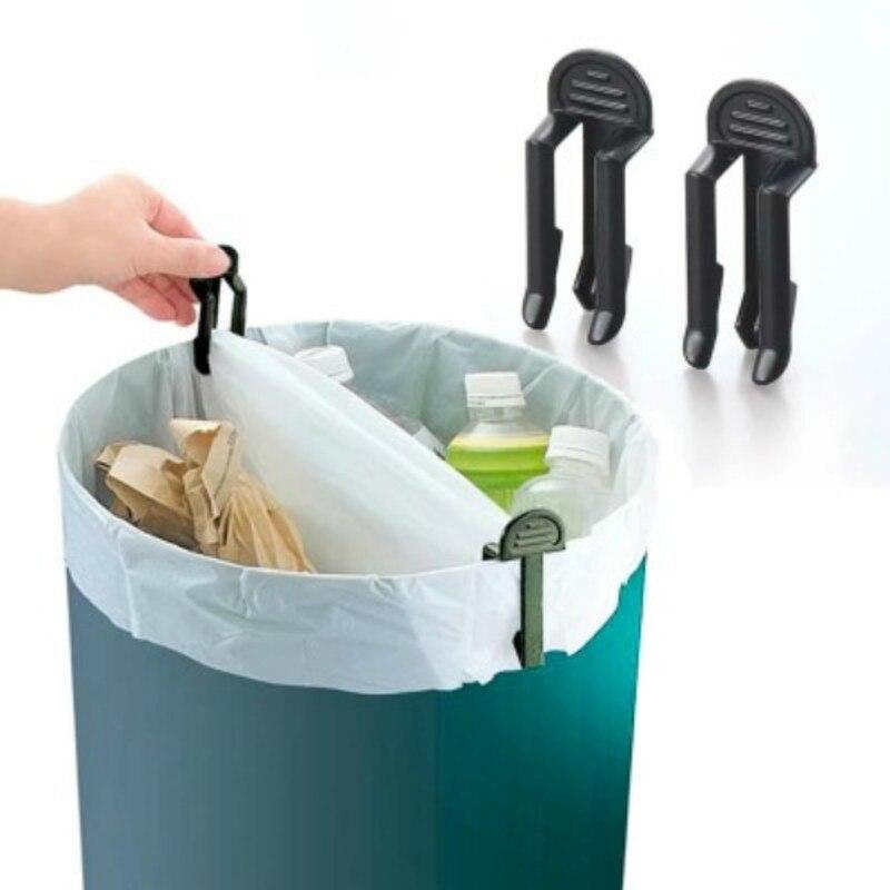 6pcs Lot Practical Trash Can Clamp Plastic Garbage Bag