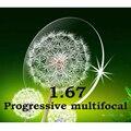 Index1.67 delgada Cr-39 lentes recetados multifocal Progresiva sin línea de resistencia al impacto/resistente a los arañazos