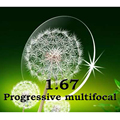Index1.67 multifocal Progressiva Cr-39 lentes de prescrição sem linha fina resistência ao impacto/anti-scratch