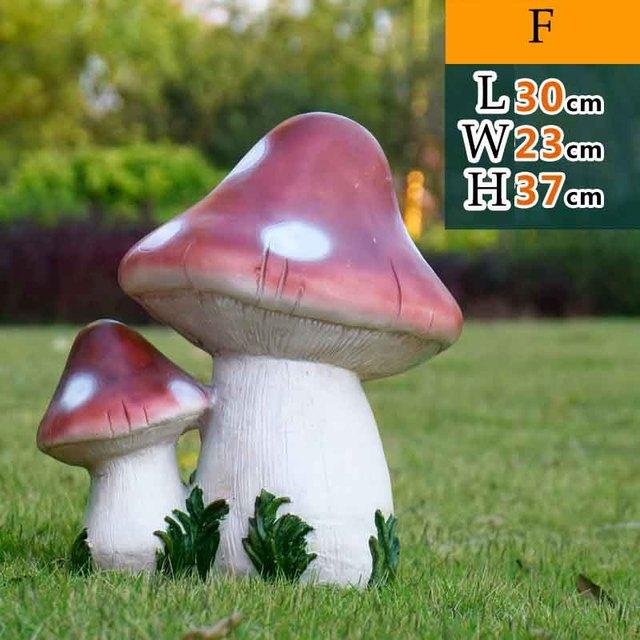 Big And Small Lucky Mushroom Garden Statue Great Garden Decor For