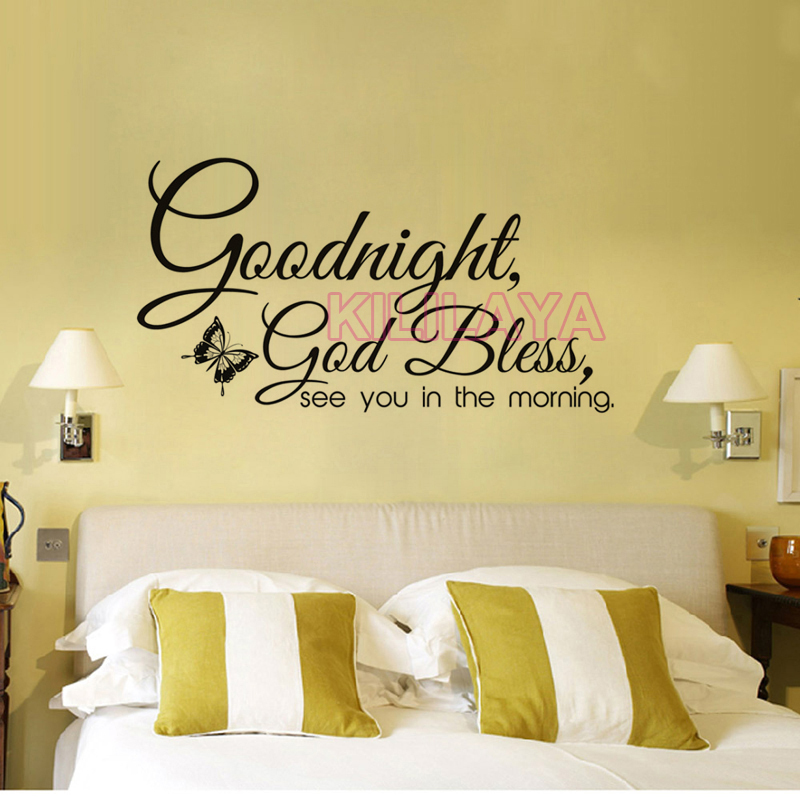Christian Goodnight God Bless Religious Vinyl Wall Sticker Wall ...