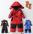 Ребенок один кусок лыжный костюм девочка лыжный костюм ребенок мужского пола ребенка одна часть хлопка белье комбинезон куртка
