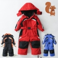 Child one piece ski suit female child ski suit male child baby one piece cotton underwear jumpsuit outdoor jacket