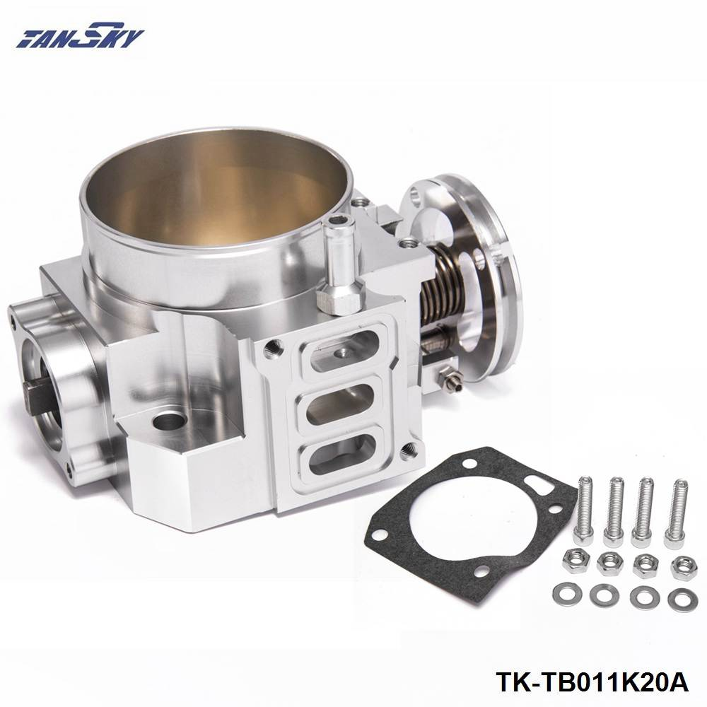 цена на Upgrade 70mm Intake Manifold Throttle Body Plate Assembly Silver For Honda K20A2 / K20A4 TK-TB011K20A