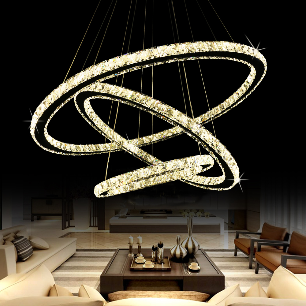 Modern Lustre Led Crystal Chandelier Lighting Ceiling Chandeliers Light Lamparas De Techo Hanglamp Suspension Luminaire Lampen noosion modern led ceiling lamp for bedroom room black and white color with crystal plafon techo iluminacion lustre de plafond