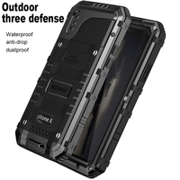 Shockproof Waterproof Armor Case For iPhone XS Max X S Metal Bumper Case Cover For Apple iPhone 6S 7 8 Plus Waterproof Case
