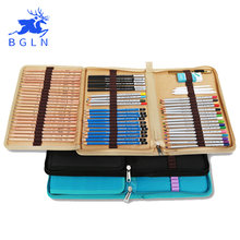 Bgln холст карандаши сумка 72 Отверстия сложенные кисть чехол на молнии cartucheras Para lapices карман художественные принадлежности