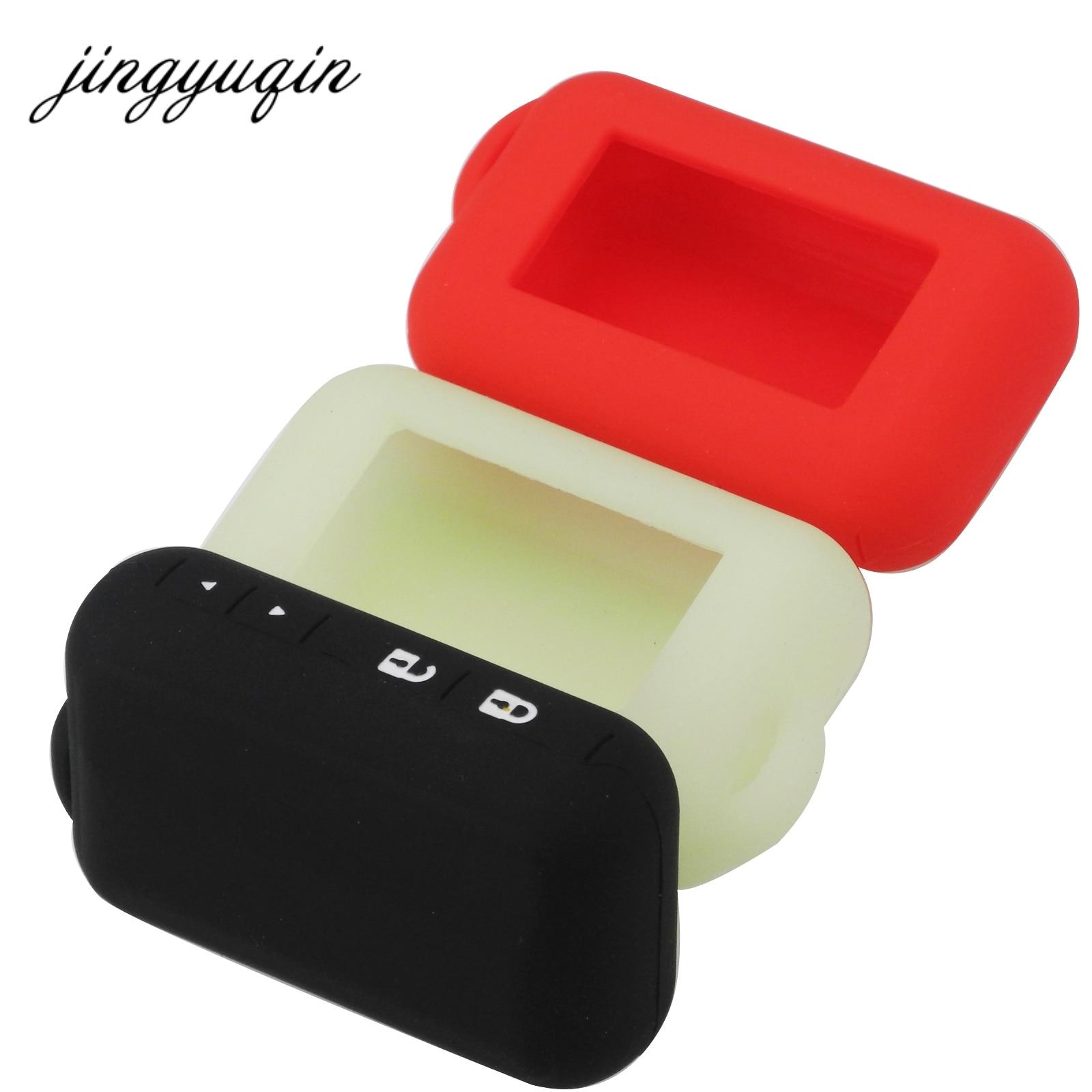 Jingyuqin Silicone Case For Starline E60 E90 E61 Two Way Car Remote 2-way LCD Keychain Fob Cover