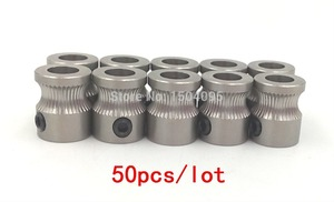 Image 2 - 50 Uds MK8 engranaje impulsor de acero inoxidable para impresora 3D de 1,75mm y 3mm extrusora de filamentos Reprap