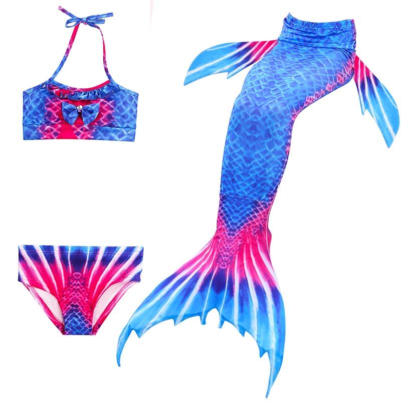 Beautiful Swimmable Mermaid Tail for children Kids Girls Bikini Swim Swimsuit Ariel the Little Mermaid Tails  Cosplay Costume