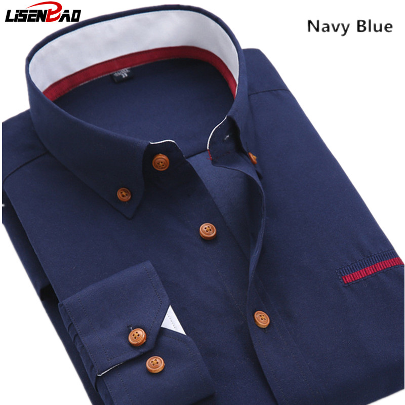 business Casual Shirts Men 3XL Designer Brand Slim Fit Man Shirts Long Sleeve White Cotton Shirts For Mens Clothes Free Shipping