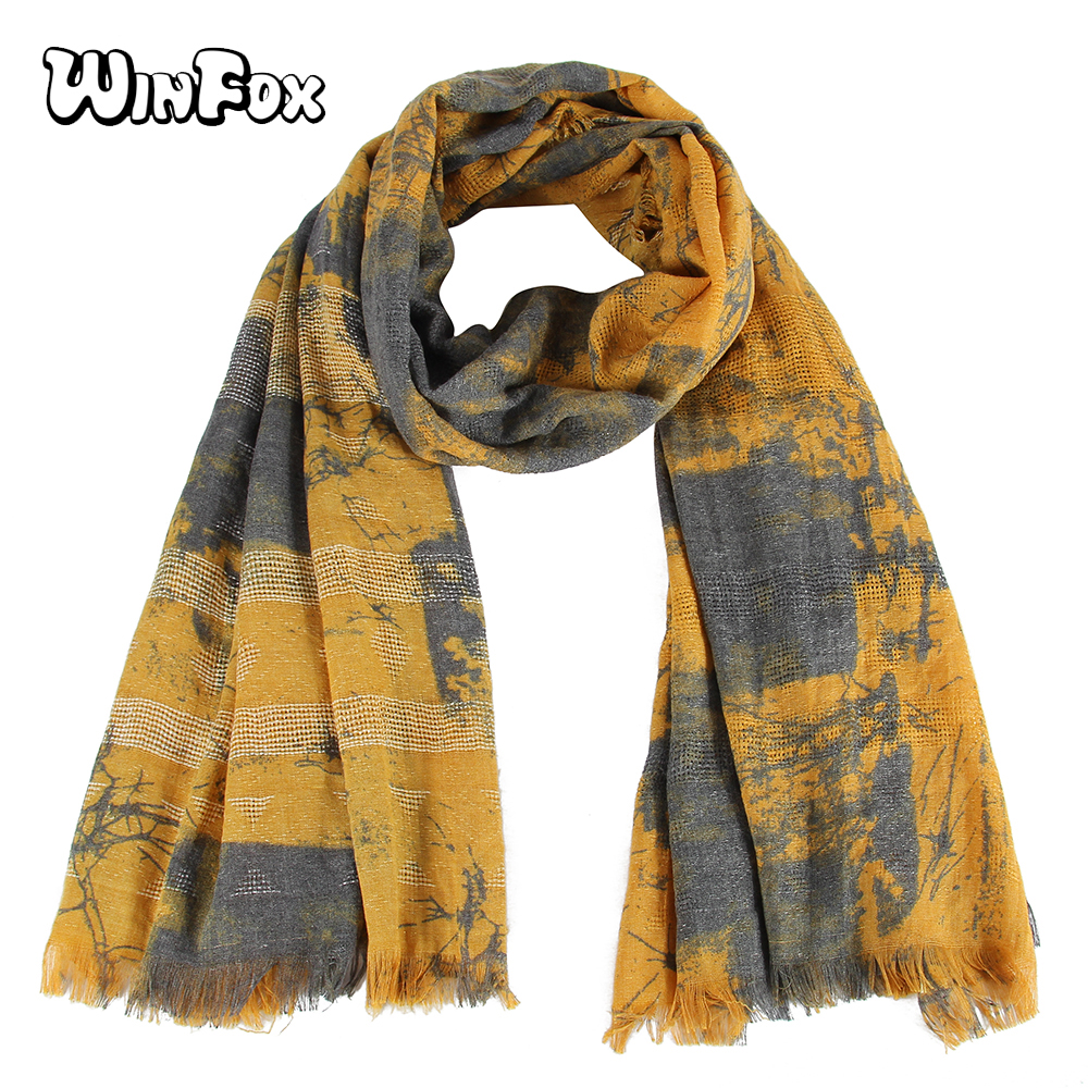 9d9a674ef Detail Feedback Questions about Winfox New Fashion Tie Dye Painting Grey  Yellow Soft Long Scarfs Shawls And Wraps For Ladies Women Bufanda Mujer on  ...