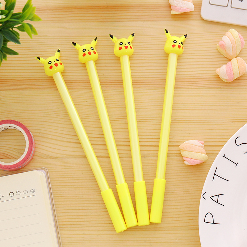 1 PCS New Creative Cartoon Kawaii Cute Plastic Pokemon Gel Pens For Kids Novelty Gift Korean Stationery Office School Supplies 10 pcs lot new cute cartoon colorful gel pen set kawaii korean stationery creative gift school supplies