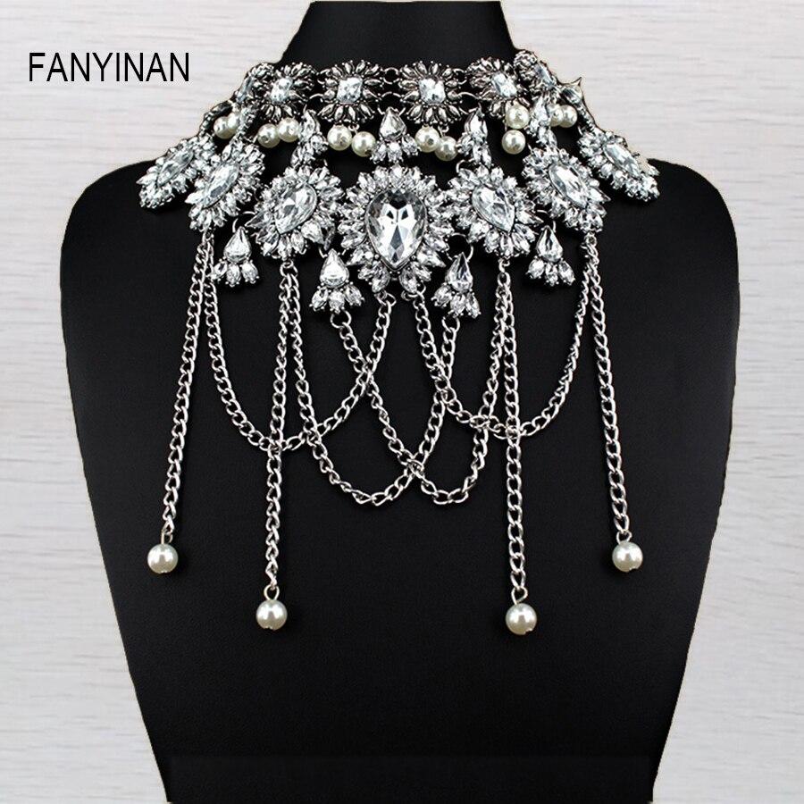 Jianxi Rococo Style Fashion Jewelry Vintage Pearl Neck Bib