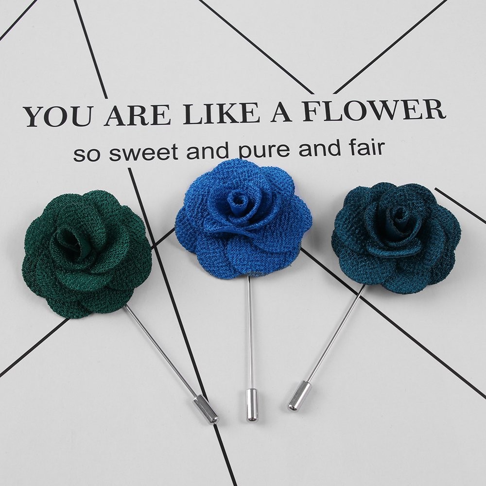 1Pcs High Quality Camellia Flower Lapel Pin Brooch Handmade Handmade Flower  Brooch Pin for Men Fashion Wedding Boutonniere