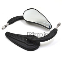 Motorcycle Rearview Black Billet Aluminum Rear Side Mirror Clear Turn Signal For Harley Mirrors Free Shipping