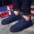 Italiano Hecho A Mano Mens Enredaderas Zapatos Brogue Zapatos Casual Diseñador de la Marca de Lujo de Los Hombres de Alta Calidad Original Alpargatas Azules Zapato