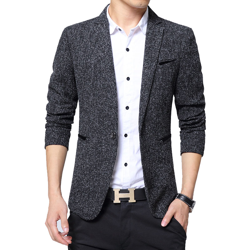 New Men's Blazer Fashion British Style Male Slim Fat 5XL Thin Casual Blazer Men Jacket Coat Brand Outwear Blusa Masculina BF5188