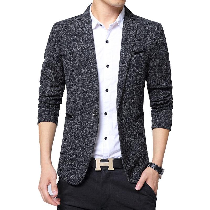 New Men's Blazer Fashion British Style Male Slim Fat 5XL Thin Casual Blazer Men Jacket Coat Brand Outwear Blusa Masculina BF5188