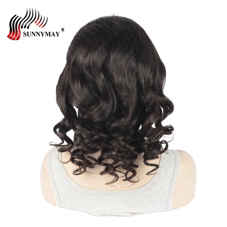 Sunnymay inimeste juuksed täis pits parukas liimimata Cap Pre - Inimeste juuksed (must)