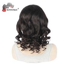 Sunnymay žmogaus plaukai pilni nėriniai perukai neprilygstamą dangtelį prieš išpjovus natūralią plaukų liniją Laisvoji banga Brazilijos plaukų nėrinių perukai