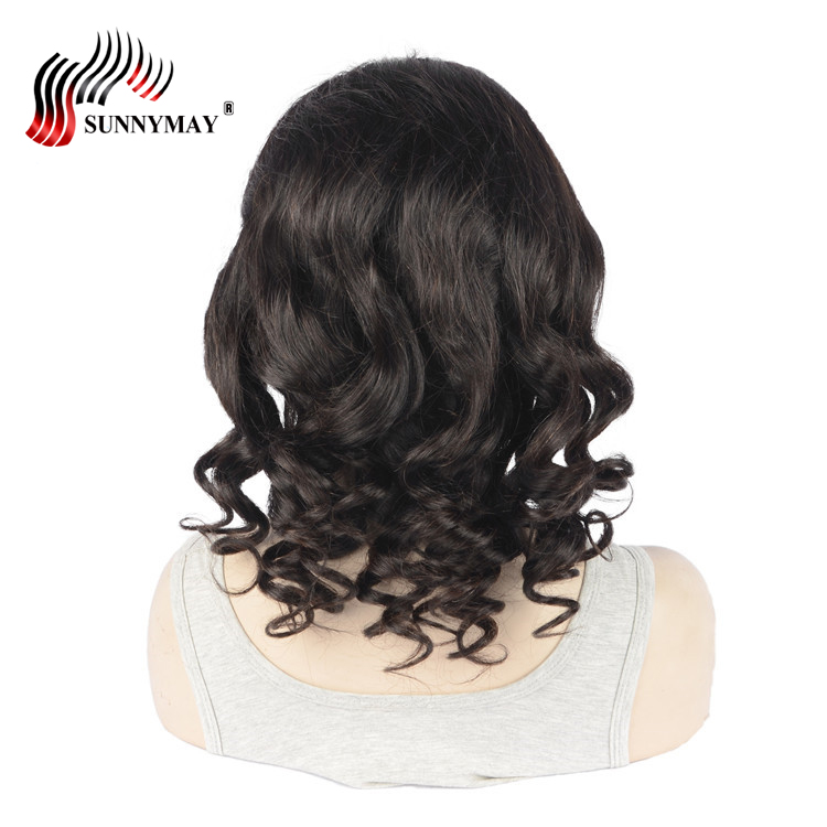 Sunnymay Human Hair Full Lace Wig Glueless Cap Pre Plucked Natural Hair Line Loose Wave Brazilian Hair Lace Wig