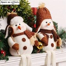 Enfeite de натальные Новогодние товары снеговик игрушка кукла Desktop Украшения Best рождественские подарки для Штаны для девочек с рождественским изображением Аксессуары для дома