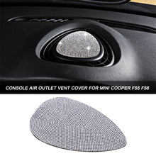 цена на 3D Crystal Diamond Car Console Air Outlet Vent Cover Sticker for Mini Cooper JCW One F56 F55 F54 Accessories Car Styling