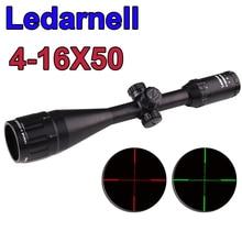 Free shipping Ledarnell 4-16x40 White Markings Green and Red Illuminated Riflescopes Rifle Scope Hunting