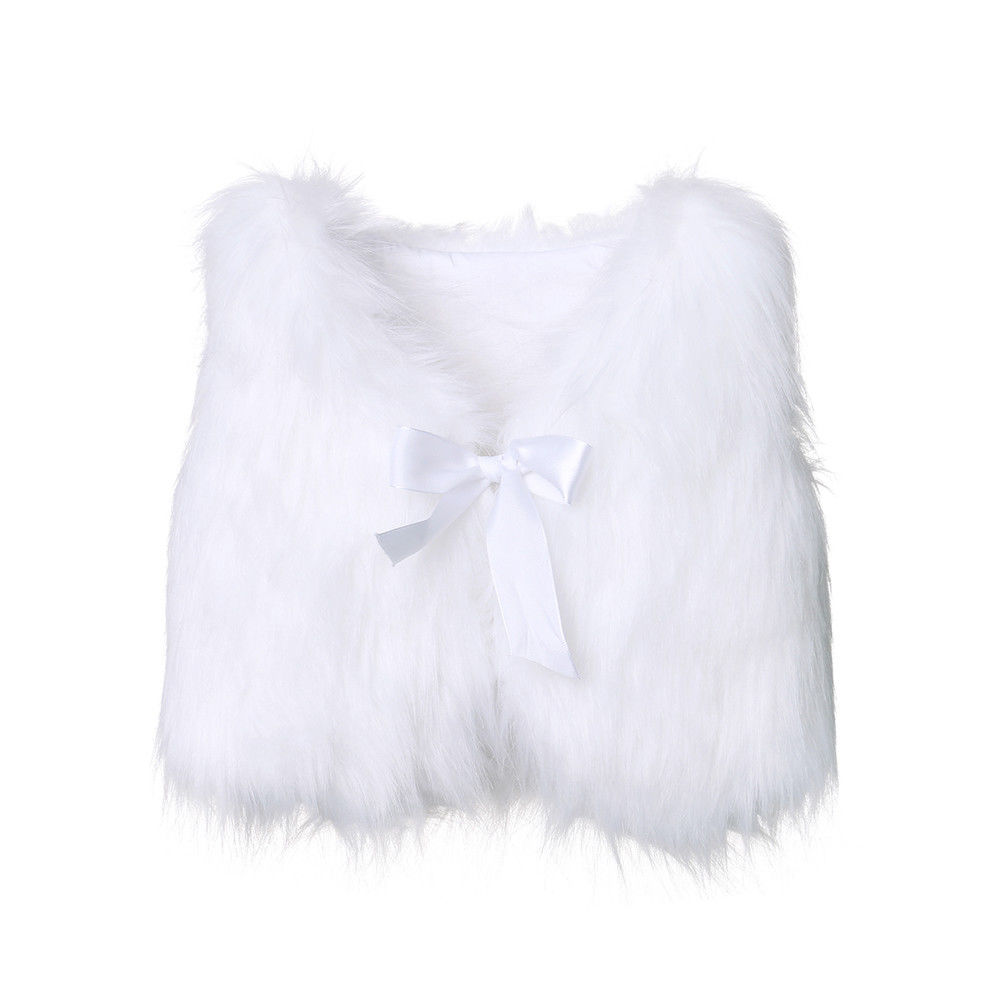 Toddlers Kids White Faux...