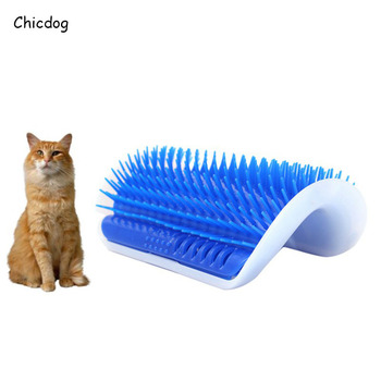 New Arrival Lovely Pet Products Cats Supplies Cat Massage Device Self Groomer With Catnip Pet Toy For Cat Brush Comb 3 Colors