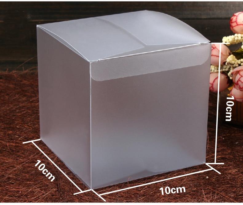 30 st cke 10 10 10 cm frosted kunststoff pvc box verpackung boxen f r geschenke schokolade candy. Black Bedroom Furniture Sets. Home Design Ideas
