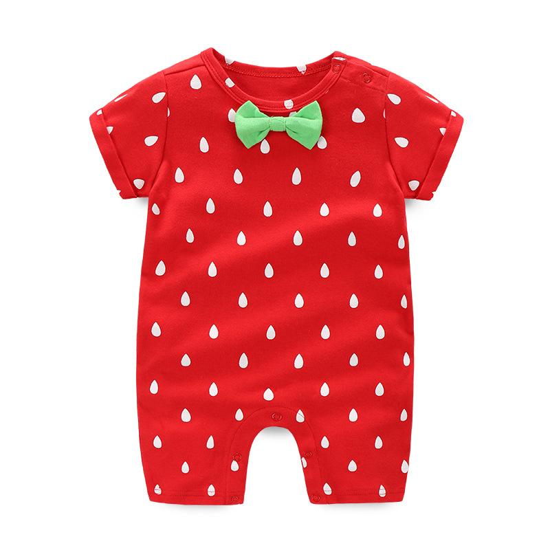 Summer Short-sleeve Baby Romper Cotton Baby Boy/Girl Clothes Letter Bow Cute Newborn Baby Jumpsuits Overalls for Children