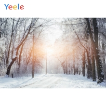 Yeele Winter Sunshine Forest Snow Mount Room Decor Photography Backdrops Personalized Photographic Backgrounds For Photo Studio kate winter backdrops photography ice snow tree scenery photo shoot white forest world backdrops for photo studio