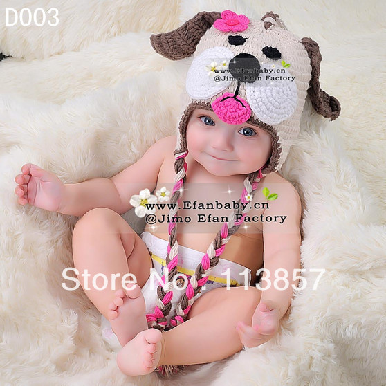 Cute Crochet Animal Baby Hat Knitting Pattern Hand Made Beanie Hats