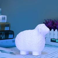 Kids Real 3D Print Sheep Lamp Luminous Toy 16 Color Change LED Night Light Touch Remote Control Bedside Lighting Desk Lamp