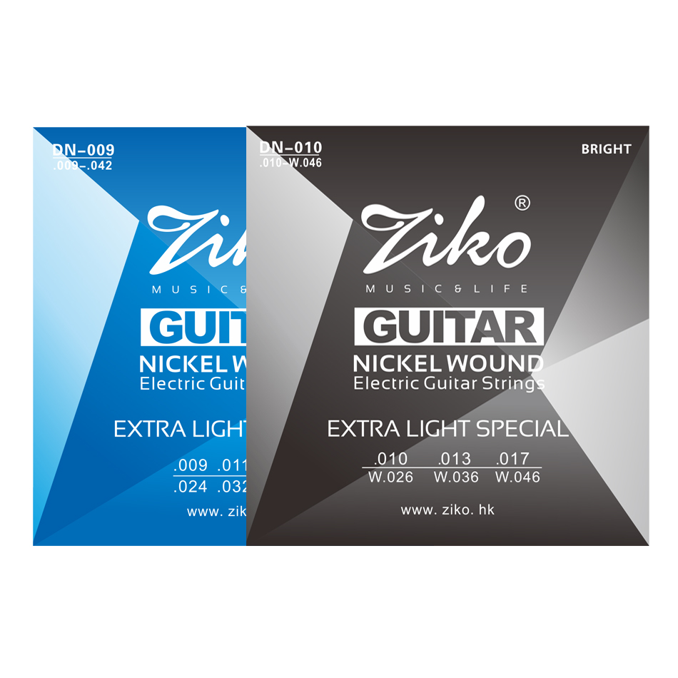 ZIKO DN Series Electric Guitar Strings Extra Light 009-042 And 010-046 Inch Nickel Wound Hexangon Alloy Core
