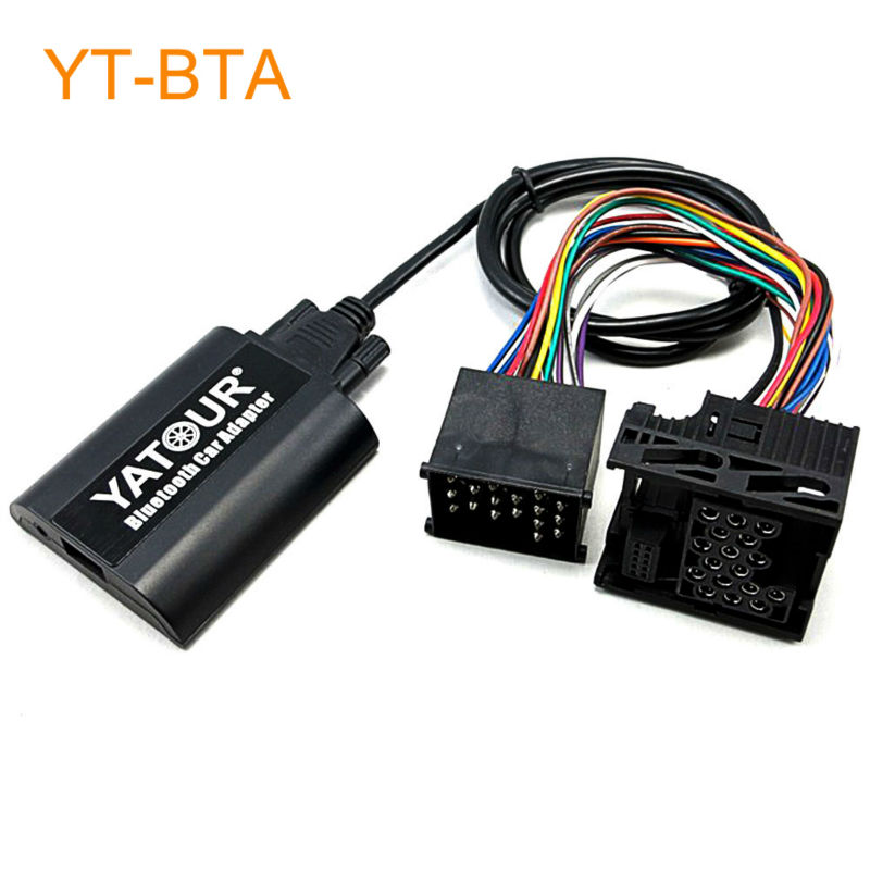 Yatour BTA Car Bluetooth Adapter Kit for Factory Head Unit Radio for BMW E36 E46 E39 E38 X3 X5 Z3 Z8 K1200LT and for MINI R5x yatour car digital music cd changer aux mp3 sd usb adapter 17pin connector for bmw motorrad k1200lt r1200lt 1997 2004 radios