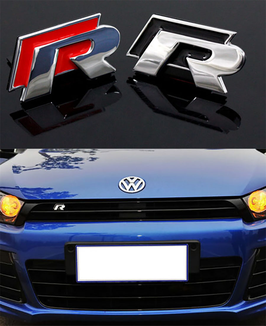 Volkswagen scirocco golf vi and passat cc r line photos image 5 - For Vw Golf 7 Tiguan Cc Scirocco Stereo 3d R Marking Car Personality Stickers China