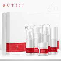 5Pcs Peptide Face Skin Care Set Toner/Lotion/Day Cream/ Essence/ Face Cream Anti Aging Repair Whitening Nursing Facial Set