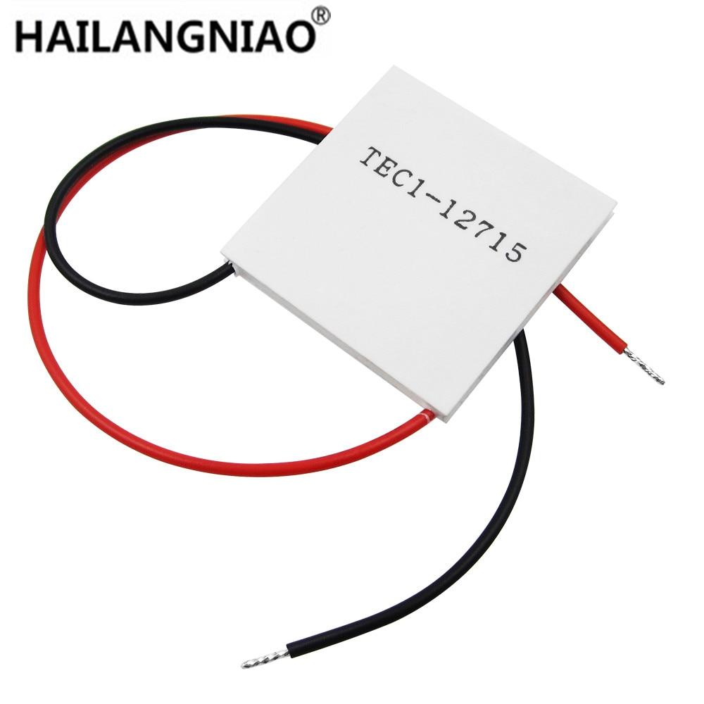 10pcs lot TEC1 12715 TEC 1 12715 136 8W 12V 15 4V 15A TEC Thermoelectric Cooler