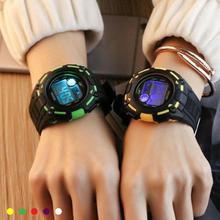 1pc luxurious model lovers girls males scholar Watches Trend Digital wristwatch Equipment LED show sports activities clocks reward H4
