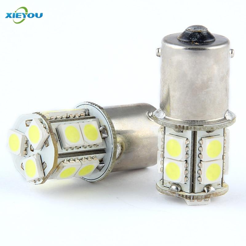 XIEYOU 2PCS 1156 S25 BA15S 13-SMD 12V LED светлини за - Автомобилни светлини - Снимка 1