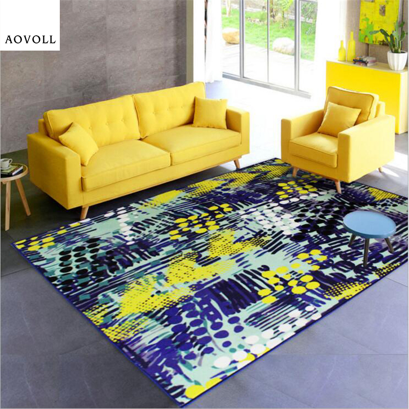 AOVOLL 2018 New Abstract Style Soft Nylon Carpets For Living Room Bedroom Kid Room Rugs Home Carpet Floor Door Mat Area Rugs Mat