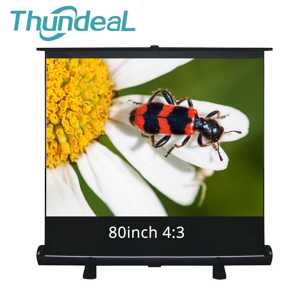 80 inch 4:3 HD Projector Floor Screen Business Meeting LED DLP Projection Screen for XGIMI JMGO Benq Sony Epson Projector 80inch