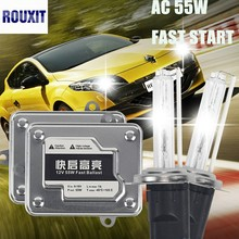 AC 55W Fast Start Ballast Car Light HID Xenon Kit Bulb Auto Headlight Fog Light 9005 HB3 9006 HB4 H1 H3 H7 H8 H9 H11 881 880 brand new 55w car xenon kit hid metal ballast bulb dc auto headlight headlamp 3000k 15000k for xf 2009 2010