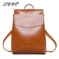 Hot Sale Oil Wax Womens Leather Fashion Designer Backpack Rucksacks Bags For Girls Youth Women School Bag Sac A Dos Femme Kanken