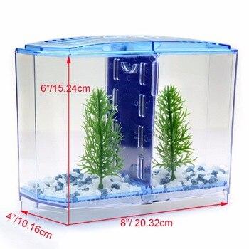 Aquarium Acrylic Double Betta Bowl Fighting Fish Mini House Incubator Box For Fry Isolation Hatchery Reptile Cage Turtle House 1